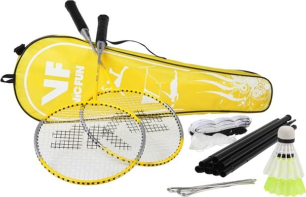Badmintonový set VICFUN Hobby set Typ A (2 rakety, míče, sloupky, síť)