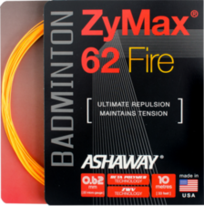 Badmintonový výplet ASHAWAY Zymax 62 Fire orange (0.62 mm)