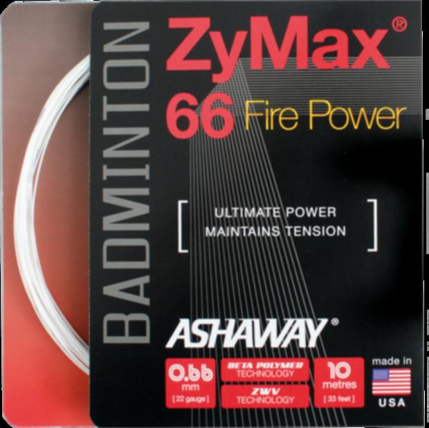 Badmintonový výplet ASHAWAY Zymax 66 Fire Power (0.66 mm)