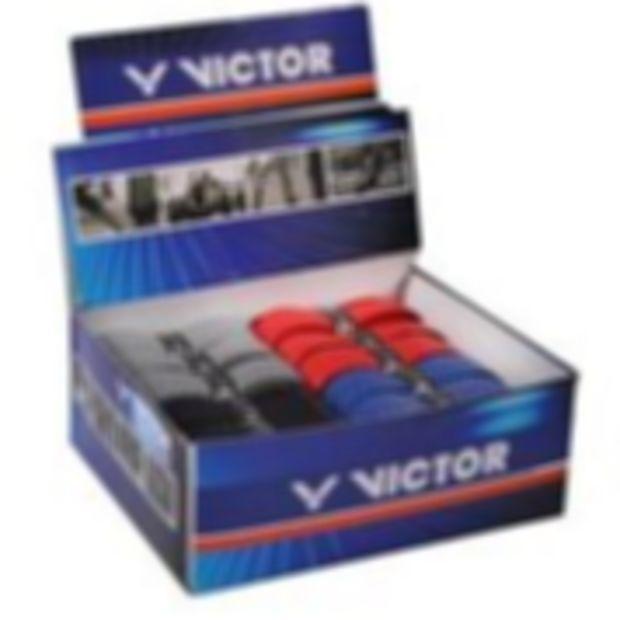 Omotávka na rakety základní VICTOR Fishbone Grip - BOX - 7x černá + 6x 3 barvy